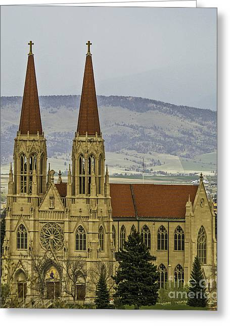Cathedral Of St Helena Greeting Card by Sue Smith