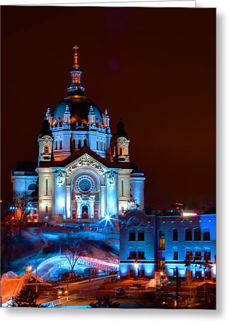 Cathedral Of St Paul All Dressed Up For Red Bull Crashed Ice Greeting Card