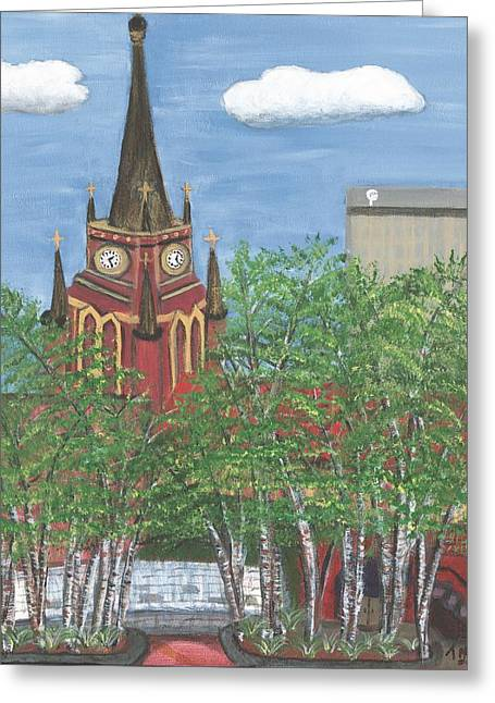 Cathedral Of The Assumption Greeting Card by Teresa French McCarthy