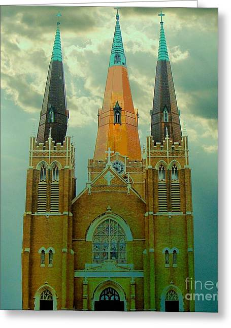 Cathedral Of The Holy Family  Greeting Card