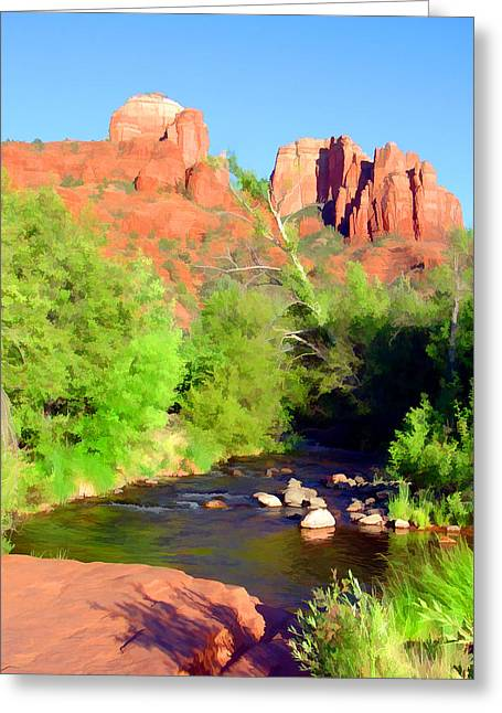 Cathedral Rock Afternoon Greeting Card
