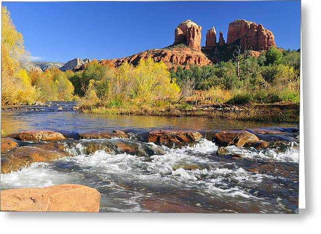 Cathedral Rock From Rock Crossing Greeting Card by Dan Myers