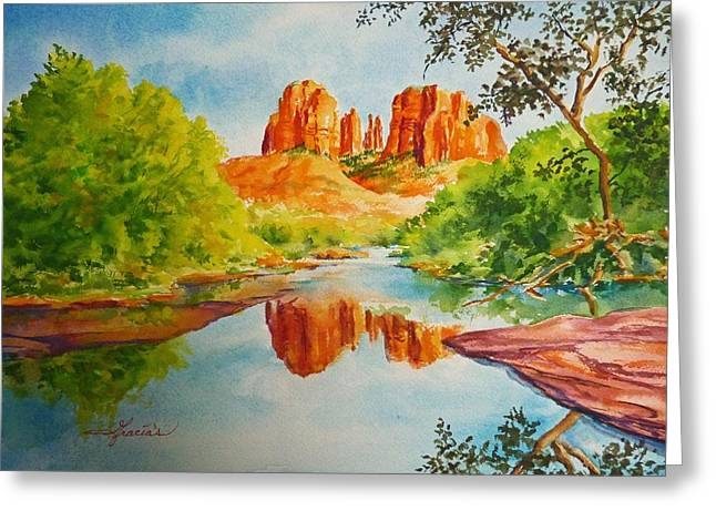 Cathedral Rock  Greeting Card by Gracia  Molloy