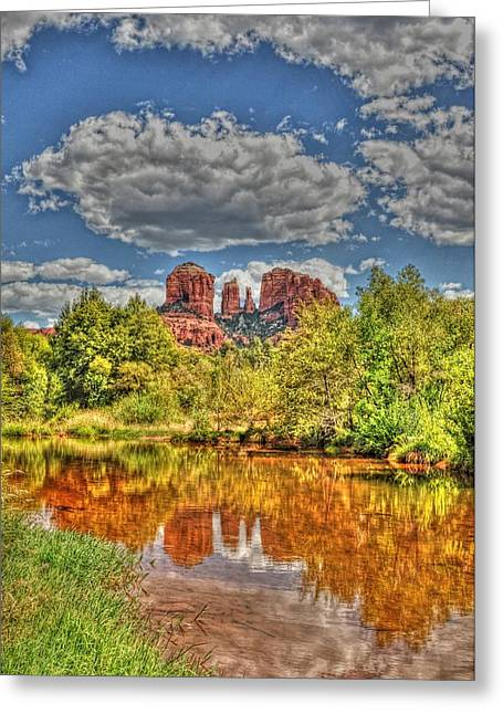 Cathedral Rock Painted Greeting Card