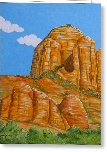 Cathedral Rock Sedona Az Left Greeting Card by Carol Sabo