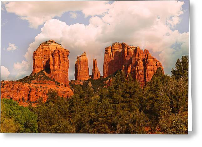 Cathedral Rock Sunset Greeting Card
