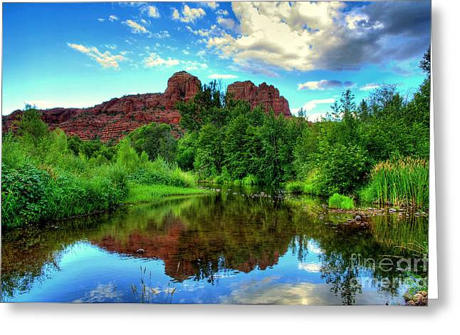 Cathedral Rocks At Red Rock Crossing Greeting Card by K D Graves