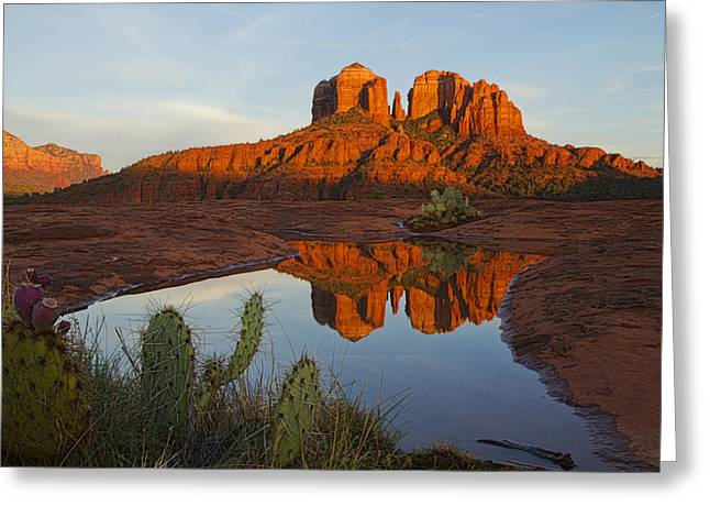 Cathedral Rock's Bath 0299 Greeting Card
