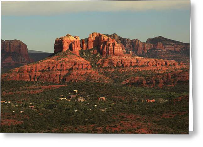 Greeting Card featuring the photograph Cathedral Rocks In Sedona by Alan Vance Ley