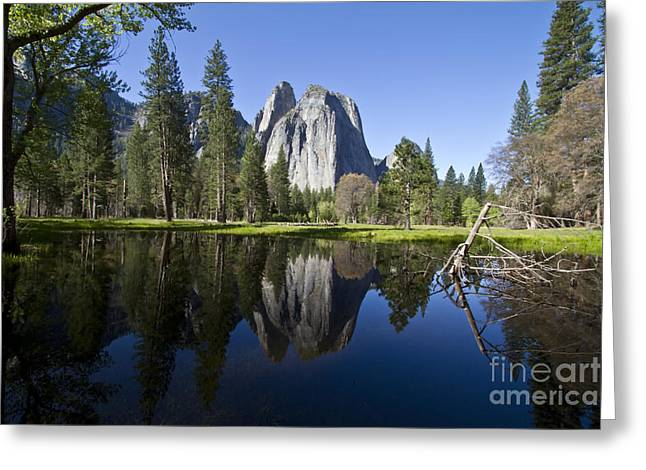 Cathedral Rocks Reflection Greeting Card