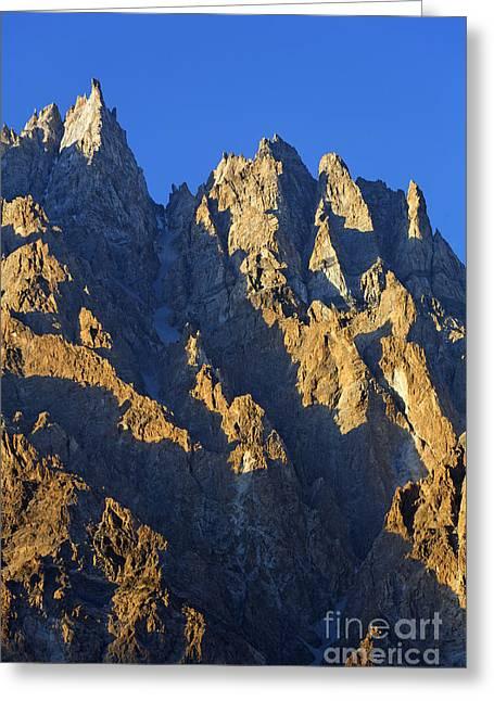 Cathedral Spires Mountain Peaks Karakorum Greeting Card by Robert Preston