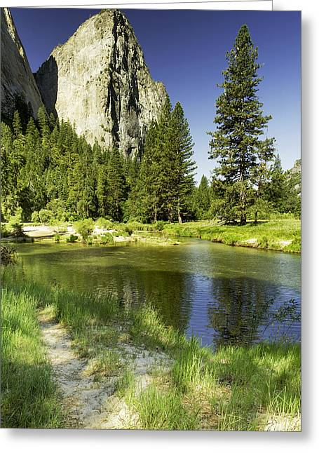 Cathedral Spires-yosemite Series 25 Greeting Card by David Allen Pierson