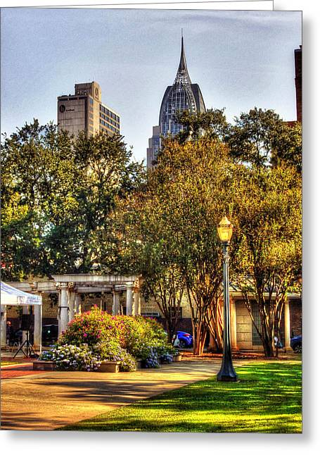 Cathedral Square And Rsa Building Greeting Card by Michael Thomas