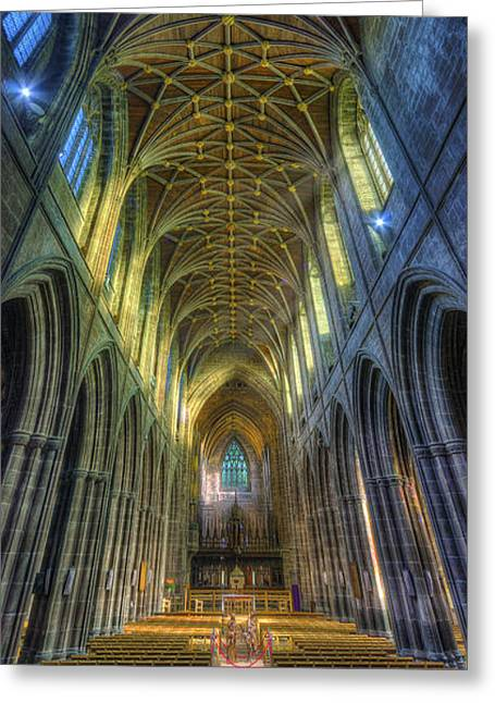 Cathedral Vertorama Greeting Card by Ian Mitchell