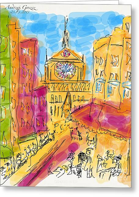 Cathedrale Notre Dame De Paris. I Love Paris - J Adore Paris . The Young Rebels Movement. Greeting Card by  Andrzej Goszcz