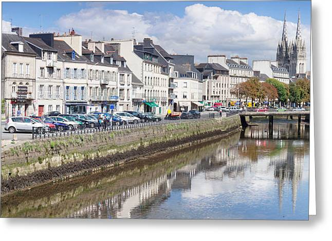 Cathedrale St-corentin Reflecting Greeting Card by Panoramic Images