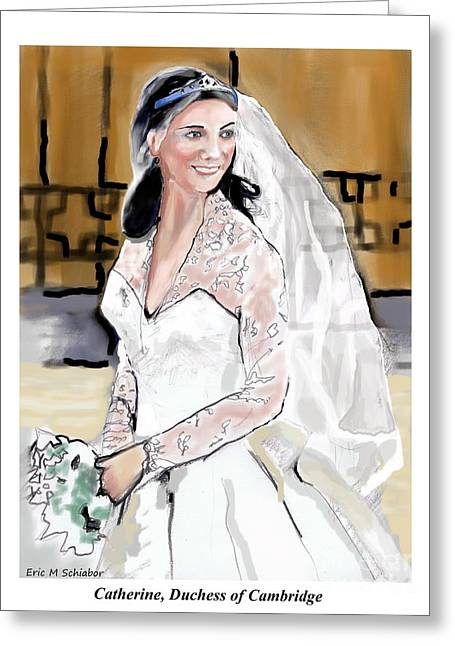 Catherine Duchess Of Cambridge Print  Greeting Card