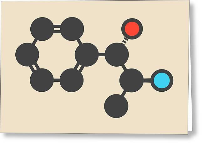 Cathine Khat Stimulant Molecule Greeting Card by Molekuul