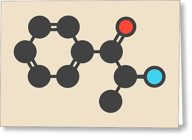 Cathinone Khat Stimulant Molecule Greeting Card by Molekuul