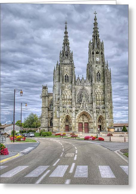 catholic church in France Greeting Card by Ioan Panaite