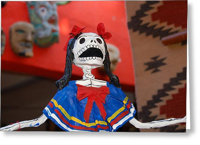 Catrina Doll Greeting Card by Susie Blauser