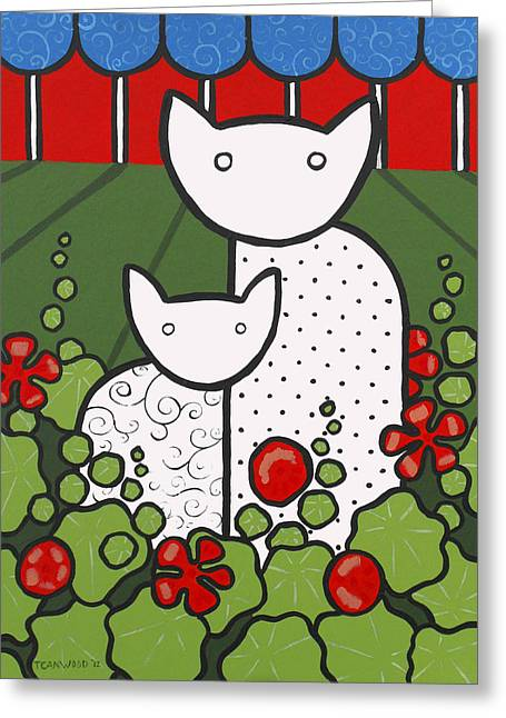 Cats 5 Greeting Card by Trudie Canwood