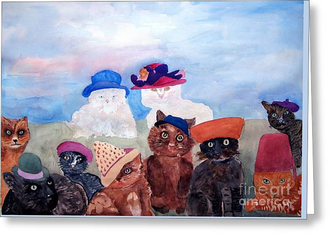 Cats In Hats Greeting Card