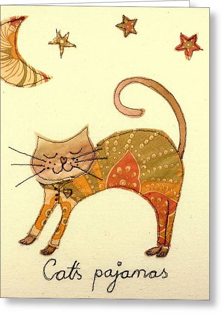 Cats Pajamas Greeting Card