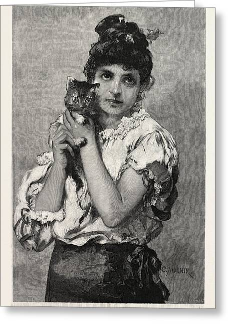Catseyes, Cat Eyes Greeting Card