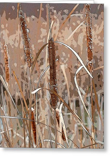 Greeting Card featuring the photograph Cattails In The Fall by Rob Huntley