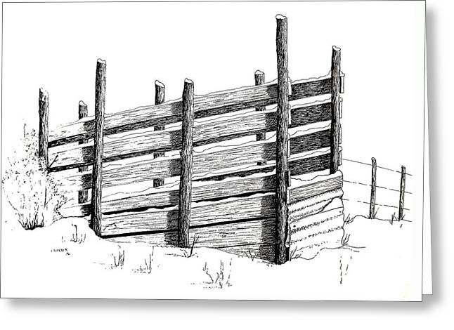 Cattle Chute Ink Greeting Card