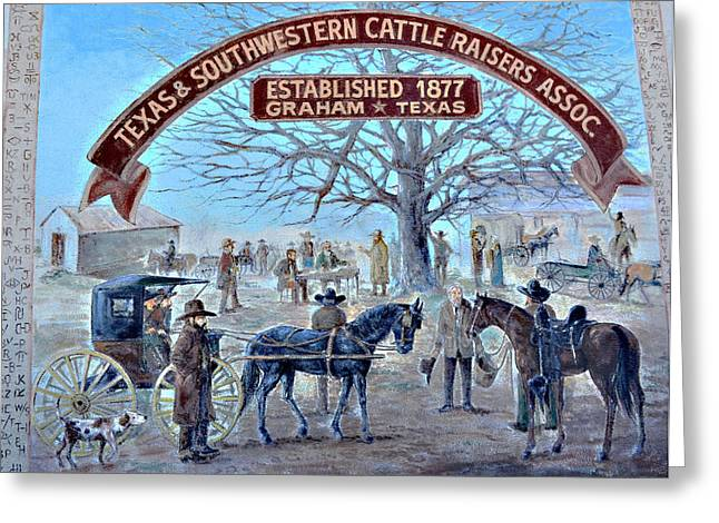 Cattle Raisers Association Greeting Card by Linda Cox