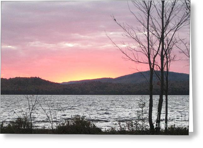 Caucomgomoc Lake Sunset In Maine Greeting Card