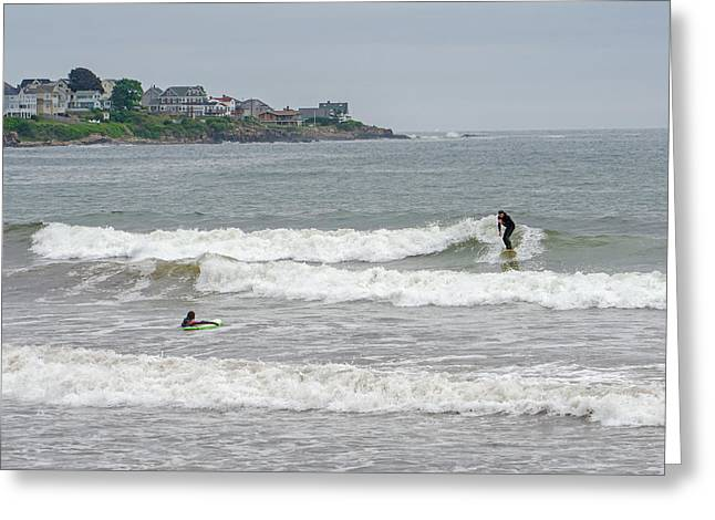 Caught A Wave Greeting Card by Susan  McMenamin