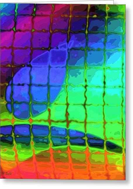 Caught In My Color Net On Venus Greeting Card