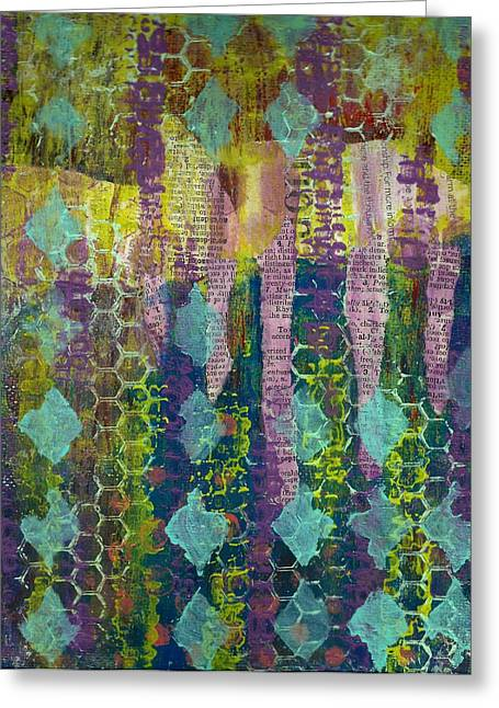 Caught In The Net Greeting Card by Lisa Noneman