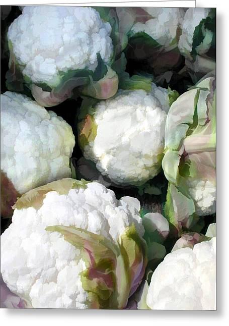 Cauliflower Bouquet Greeting Card by Elaine Plesser