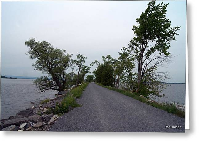 Causeway Between Mills Point And South Hero Vermont Greeting Card by Mark Holden