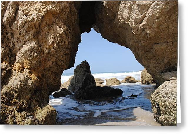 Cave El Matador Beach Greeting Card