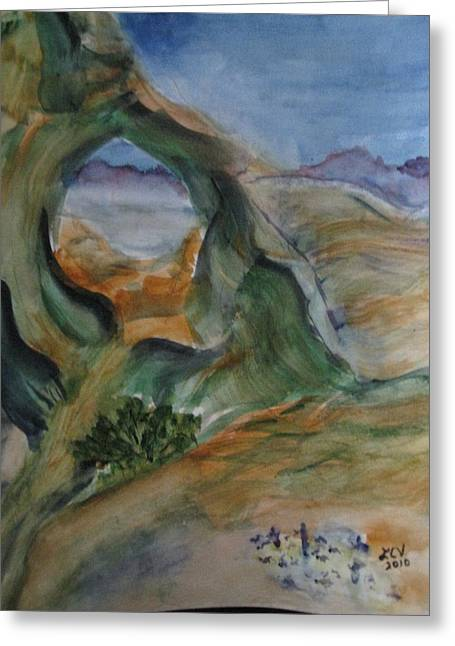 Cave In The Desert Greeting Card