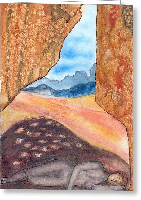 Cave Greeting Card by Lucia Conrad