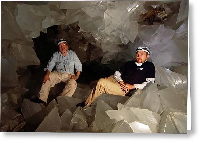 Cave Of Crystals Greeting Card by Javier Trueba/msf