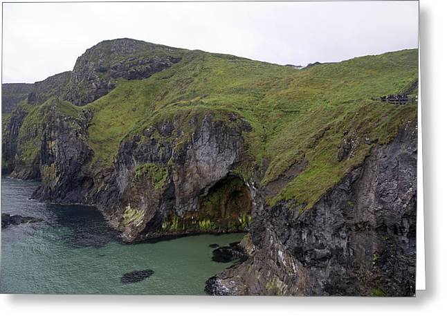 Cavern Carrick-a-rede Ireland Greeting Card by Betsy Knapp