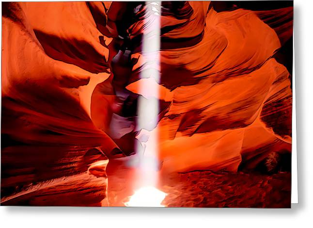 Cavern Lights Artistic Style - Antelope Canyon - Arizona Greeting Card