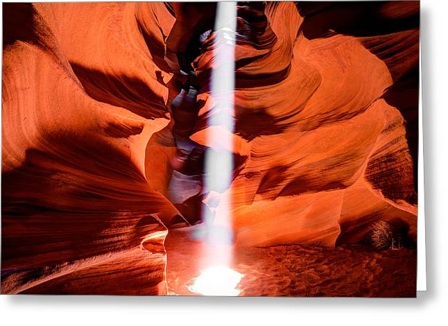 Cavern Lights Greeting Card by Gregory Ballos