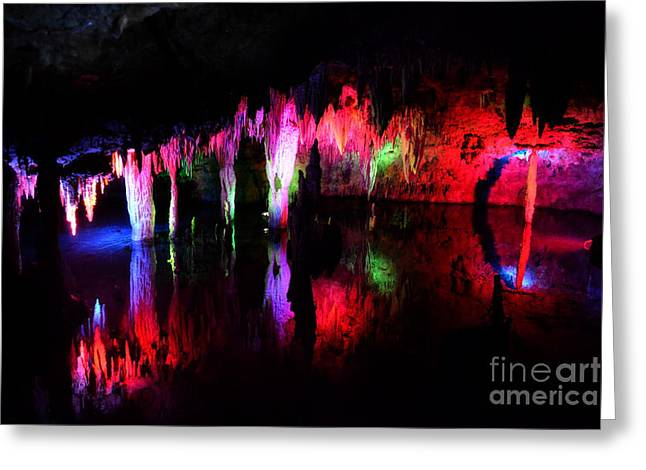 Greeting Card featuring the photograph Caverns by Utopia Concepts