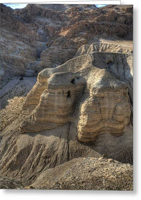 Caves Of Qumran Greeting Card by Don Wolf