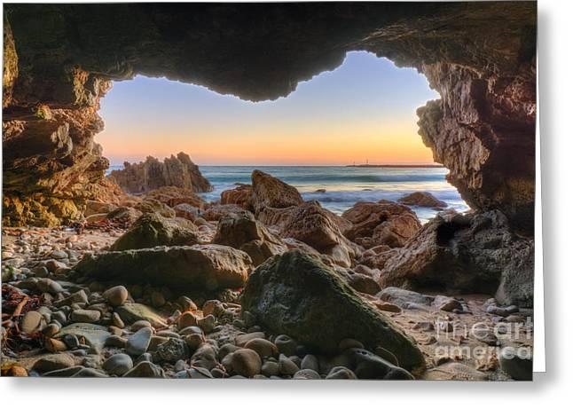 Beachside Cave Greeting Card