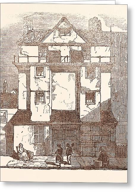 Caxtons House, In The Almonry, Taken Down November Greeting Card by English School