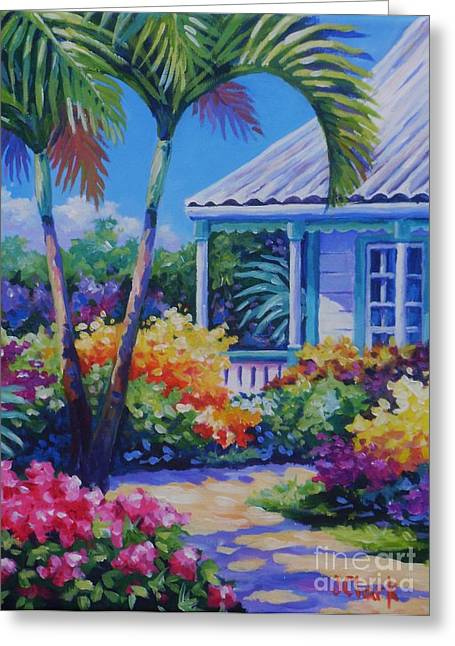 Cayman Yard Greeting Card by John Clark